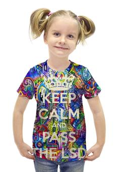 """Футболка с полной запечаткой для девочек """"Аlluring inspiration"""" - lsd, лсд, кислота, keep calm"""
