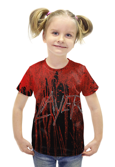 """Футболка с полной запечаткой для девочек """"Slayer 2012"""" - музыка, рок, металл, slayer, thrash metal"""