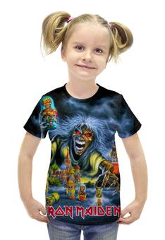 """Футболка с полной запечаткой для девочек """"Iron Maiden Band"""" - москва, heavy metal, iron maiden, хеви метал, eddy"""