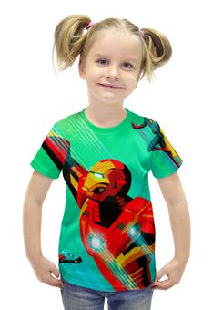 """Футболка с полной запечаткой для девочек """"Мстители (The Avengers)"""" - мстители, железный человек, локи, тор, халк"""