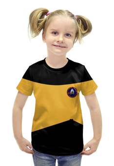 """Футболка с полной запечаткой для девочек """"Star Trek"""" - арт, star trek, стар трек, звездный путь"""