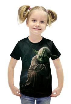 """Футболка с полной запечаткой для девочек """"Star Wars - Yoda"""" - star wars, звездные воины, йода"""