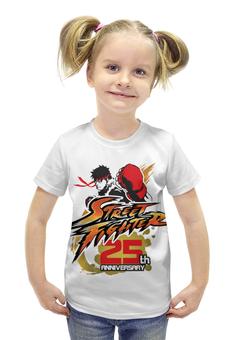 """Футболка с полной запечаткой для девочек """"Street Fighter"""" - геймер, уличный боец, по играм, файтинги, игроку"""