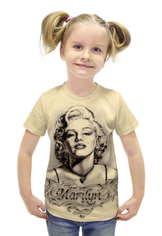 "Футболка с полной запечаткой для девочек ""Marylin Monroe"" - ретро, кино, актриса, мэрилин монро, marilyn monroe"