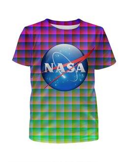 """Футболка с полной запечаткой для девочек """"NASA SPACE"""" - space, стиль, космос, вселенная, universe"""