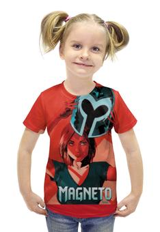 """Футболка с полной запечаткой для девочек """"Магнето"""" - люди икс, magneto, xmen, магнето"""