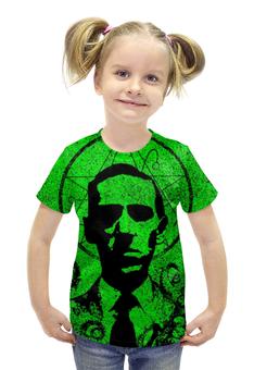 """Футболка с полной запечаткой для девочек """"Лавкрафт ( Lovecraft )"""" - ктулху, cthulhu, лавкрафт, lovecraft"""