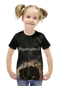 """Футболка с полной запечаткой для девочек """"Supernatural"""" - supernatural, сверхестественное"""