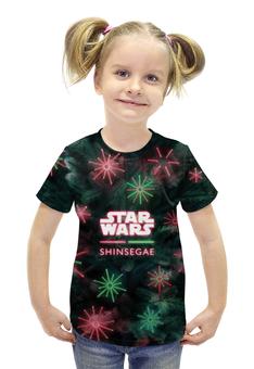 """Футболка с полной запечаткой для девочек """"Star Wars"""" - star wars, рождество, 2016"""