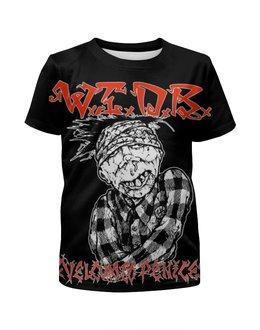 """Футболка с полной запечаткой для девочек """"Thrash metal art"""" - рок музыка, thrash metal, арт дизайн, rock music, треш метал"""