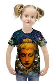 """Футболка с полной запечаткой для девочек """"Будда"""" - арт, дизайн, иллюстрация, буддизм"""