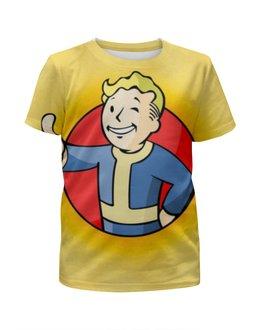 """Футболка с полной запечаткой для девочек """"fallout 4 , фаллаут , fallout"""" - fallout, фаллаут, fallout 4"""