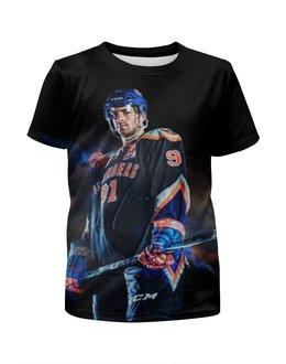 """Футболка с полной запечаткой для девочек """"Хоккей / Hockey"""" - спорт, рисунок, хоккей, нхл"""