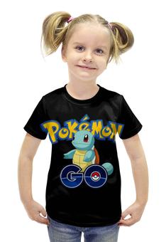 """Футболка с полной запечаткой для девочек """"Pokemon Go """" - покемоны, покебол"""