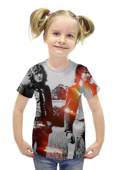 """Футболка с полной запечаткой для девочек """"Led Zeppelin"""" - led zeppelin"""