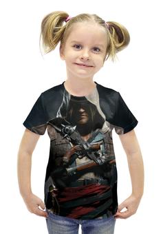 """Футболка с полной запечаткой для девочек """"Кредо ассасина (Assassin's Creed)"""" - assassin's creed, ассасин, кредо ассасина"""