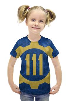 """Футболка с полной запечаткой для девочек """"Убежище 111 (Fallout 4)"""" - fallout, fallout 4, убежище 111, vault 111"""