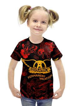 """Футболка с полной запечаткой для девочек """"Aerosmith (Смиты, Smits)"""" - aerosmith, смиты, smits"""