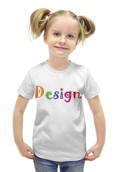 """Футболка с полной запечаткой для девочек """"Гуру Дизайна"""" - прикол, арт, юмор, comic sans"""