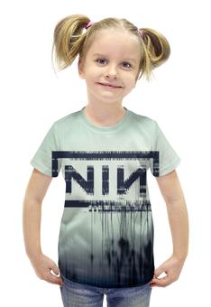 """Футболка с полной запечаткой для девочек """"Nine Inch Nails With Teeth"""" - музыка, рок, индастриал, nine inch nails, with teeth"""