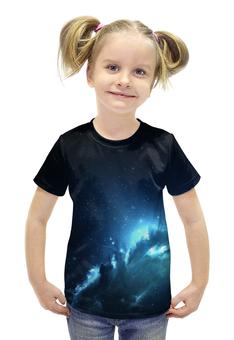 """Футболка с полной запечаткой для девочек """"The Spaceway"""" - космос, наука, прогресс, денис гесс, the spaceway"""