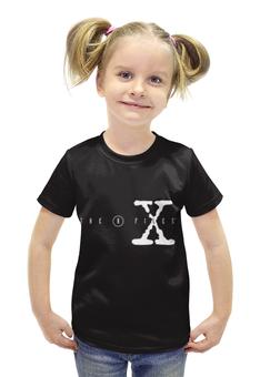 """Футболка с полной запечаткой для девочек """"Секретные Материалы (X-Files)"""" - секретные материалы, фокс малдер, дана скалли"""