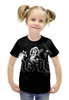 """Футболка с полной запечаткой для девочек """"AC/DC"""" - rock, ac dc"""