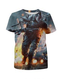 """Футболка с полной запечаткой для девочек """"Battlefield 4"""" - игры, ea"""