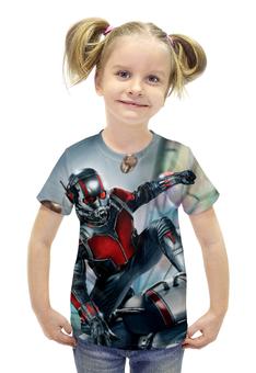 """Футболка с полной запечаткой для девочек """"Ant-Man"""" - супергерой, марвел, человек-муравей"""