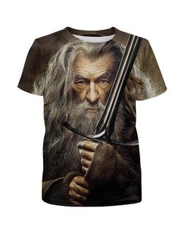 """Футболка с полной запечаткой для девочек """"Гэндальф / Gandalf"""" - рисунок, властелин колец, хоббит, гэндальф"""