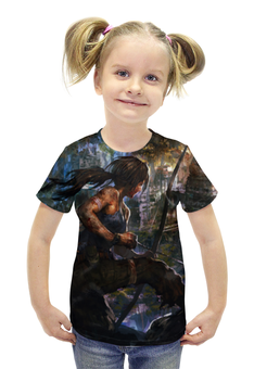 """Футболка с полной запечаткой для девочек """"Лара Крофт (Tomb Raider)"""" - tomb raider"""