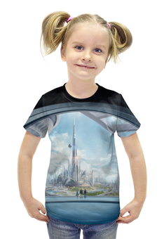 """Футболка с полной запечаткой для девочек """"Земля будущего"""" - future, кино, фильм, фантастика, tomorrowland"""