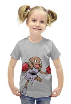 """Футболка с полной запечаткой для девочек """"Хитмончан"""" - нинтендо, pokemon go, покемон го, хитмонли, hitmonchan"""
