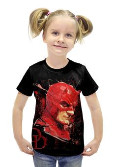 """Футболка с полной запечаткой для девочек """"Сорвиголова (Daredevil)"""" - арт, marvel, марвел, daredevil, сорвиголова"""