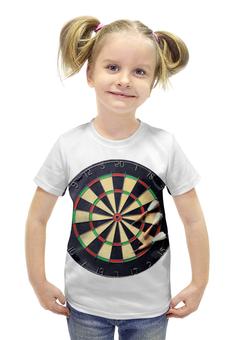 """Футболка с полной запечаткой для девочек """"Дартс"""" - darts, дарст"""