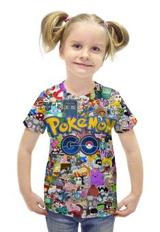 """Футболка с полной запечаткой для девочек """"POKEMON GO"""" - pokemon, покемон, пикачу, pikachu, pokemon go"""