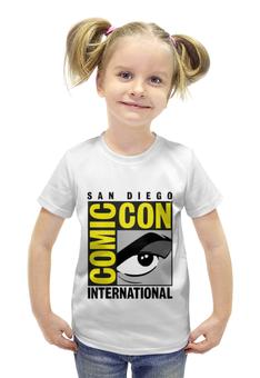 """Футболка с полной запечаткой для девочек """"San Diego Comic-Con International"""" - комиксы, comic com, комик кон"""