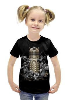 """Футболка с полной запечаткой для девочек """"Далеки (Доктор Кто)"""" - doctor who, daleks, доктор кто, далеки"""