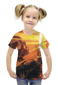 """Футболка с полной запечаткой для девочек """"Дарт Вейдер (Звездные Войны)"""" - darth vader, stars wars, lightsaber"""