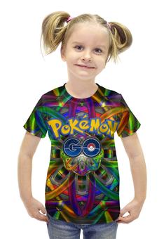 """Футболка с полной запечаткой для девочек """"Покемон"""" - pokemon, покемон, пикачу, pikachu, pokemon go"""