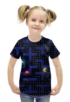 """Футболка с полной запечаткой для девочек """"Pacman"""" - pacman"""