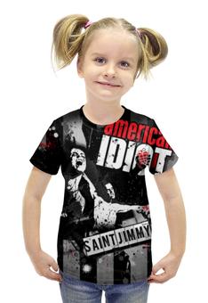 """Футболка с полной запечаткой для девочек """"Green Day"""" - green day, панк-рок, american idiot"""