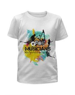 """Футболка с полной запечаткой для девочек """"MUSICIANS"""" - музыка, music, яркие цвета, яркиецвета"""