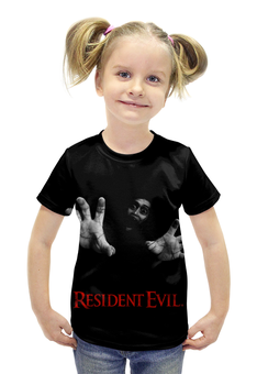 """Футболка с полной запечаткой для девочек """"Resident Evil"""" - игра, геймер, resident evil, umbrella, re"""