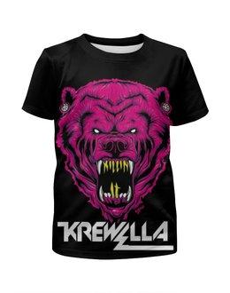 """Футболка с полной запечаткой для девочек """"Krewella"""" - музыка, dance, электронная музыка, krewella, танцевальная музыка"""