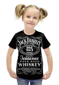 """Футболка с полной запечаткой для девочек """"Jack Daniel's"""" - напитки, джек дениэлс, jack daniel's, брамен"""