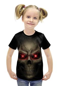 """Футболка с полной запечаткой для девочек """"Skull Art"""" - skull, череп, artwork, фэнтази, арт дизайн"""