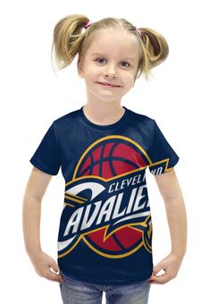 """Футболка с полной запечаткой для девочек """"Cleveland Cavaliers"""" - нба, cleveland, cleveland cavaliers, кливленд кавальерс"""
