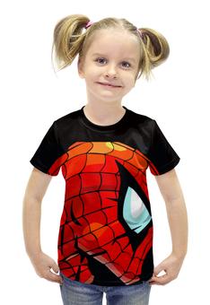 """Футболка с полной запечаткой для девочек """"Человек Паук"""" - marvel, spider man, человек паук, марвел, спайдермен"""