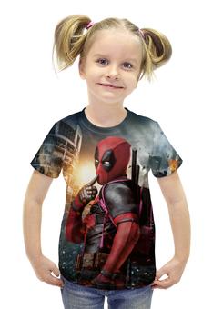 """Футболка с полной запечаткой для девочек """"Deadpool"""" - комиксы, marvel, марвел, убийца, дэдпул"""